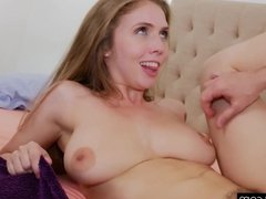 Lena Paul quivering while eating ass