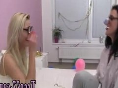 Hot lesbian strapon fuck Sleeping at your