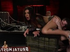 Live bondage show d and fucked rough