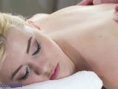Massage Rooms Pale skinned beauty takes fat cock deep in her juicy hole