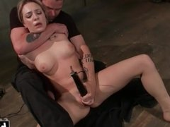 Submissive slave girl hardcore pleasured with toys