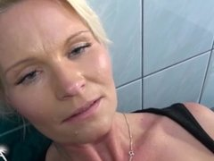 Busty Clening Lady was Bad Girl & boss fuck her raw & cum on her pussy