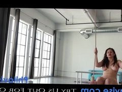 PHILAVISE- beautiful natural tit brunette Karina White