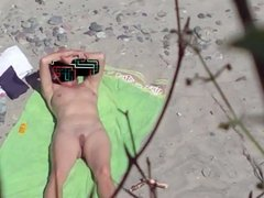 Voyeured Wife on Beach..