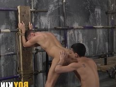 Billy Rock and David Paw involved in fetish sex at dungeon