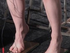 Electro bdsm and feet punishment of slave Elise Graves in du