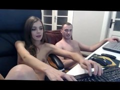 Beautiful Girl Fucks her Boyfriend on Webcam