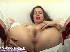 Lelu Love-Fishnet Stockings High Heels Pussy Fingering Assho