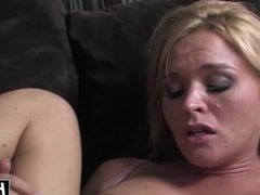 Busty blonde gets a hard BBC