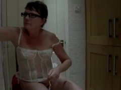 Small Titted Milf Suzy Striptease and Spanking