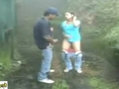 Sucking and fucking outdoors in rain - Indian Porn - teen99
