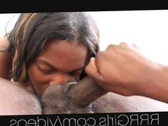 19yr old black ebony girl gives me a messy ass rim job