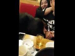 Ladyboys Sex in Public Restaurant