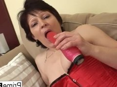 Brunette granny gets a good fucking from a younger man