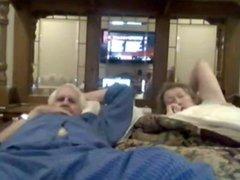 grandma suck grandpa on webcam