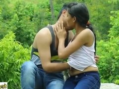Indian girl having sex with her friend in jungle before marage - teen99 - i