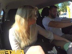 Fake Driving School Sexy busty posh blonde examiner sucks and fucks