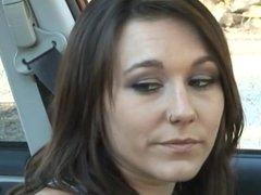 Lesbian hot Sex in a car.