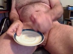 daddy cum on plate his big dick