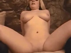Blonde babe fucked at home