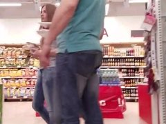 nice russian ass in the supermarket