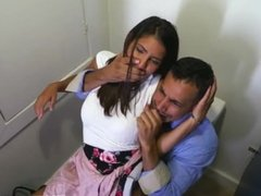 Dad and compeer's daughter anal creampie