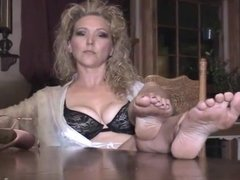 Removing Heels And Showing Soles On The Table