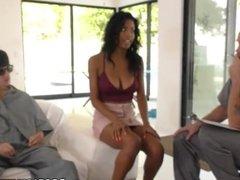 Petite Ebony Nia Nacci Wants To Fuck Huge Cocks