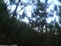 Tittyfuck and Facial in the Forest, Busty Teen loves cum !