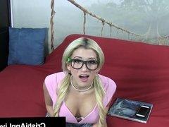 Hot Young School Girl Cristi Ann Gives A Nerd Blue Balls!