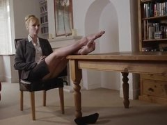 British MILF Boss Foot Tease