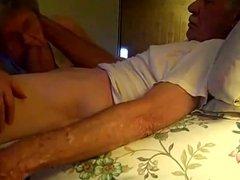 Grandma sucking Granpa until he cums