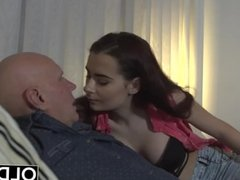 Sugar Daddy Fucks Step-Daughter Tight Pussy Goes Deep Inside Her