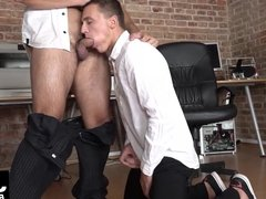 Handsome Dom Ully gets his asshole fucked by superior Kotly