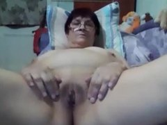 Old woman of 60 age in cam
