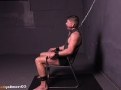 Connor Halsted Gay Bondage BDSM Crucified Face Fucking Porn Blowjob Muscle