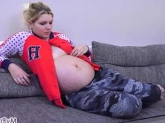 Fucking Her Pregnant Pussy with a Vibrator!
