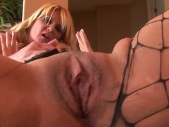 Voluptuous blonde lesbians enjoy kinky dildo play and anal f