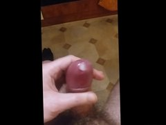 Ropey cum tribute for a fan. Hard thick cock. With slo-mo