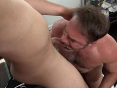 Hairy Daddy Loves his Sweaty Young Jock