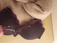 Cum tribute for bra of my girlfriend