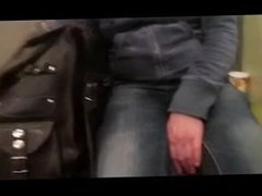 Touching her tits in a train.flv