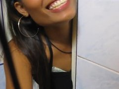 Thai bar girl- Helping hand Piss and a Wank in the toilets