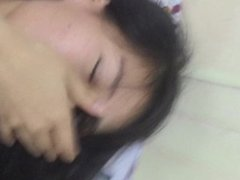 Chinese female students dance and make love in dorm