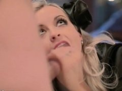 Exciting Blowjob Blonde MILF