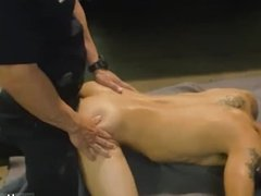 Runaway boy fucked by gay cop first time