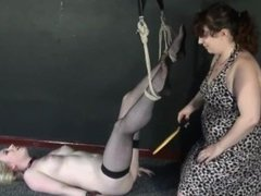 New lesbian slave Satine Sparks electro bdsm and self punishment of female