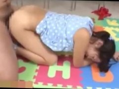 Innocent japanese teen fucked hard by her teacher.