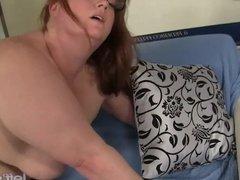 Redheaded plumper Julie Ann More fucked hard