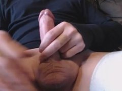 My solo 96 (Penis throbbing and cumming hard on couch)